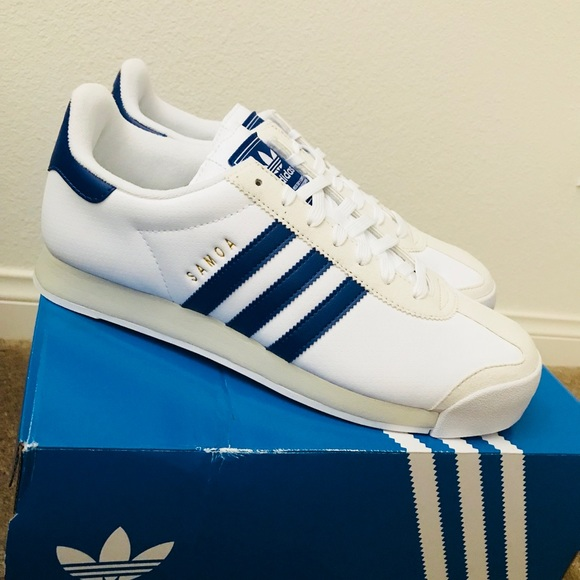 adidas Shoes | Adidas Samoa White Blue